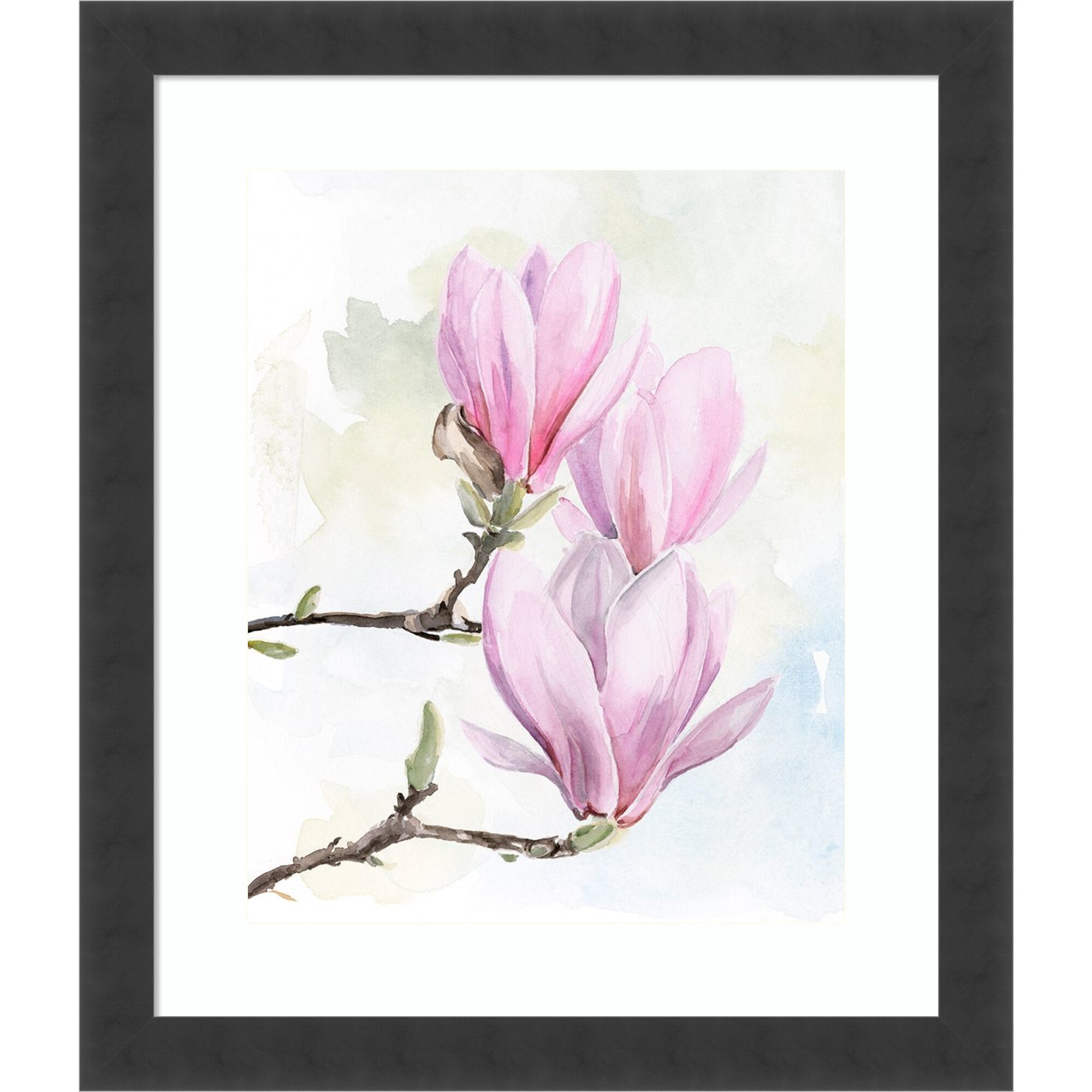 World Menagerie Magnolia Blooms I Picture Frame Print On Paper Wayfair