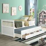 Garmond Captain's Twin Daybed with Trundle by Red Barrel Studio®