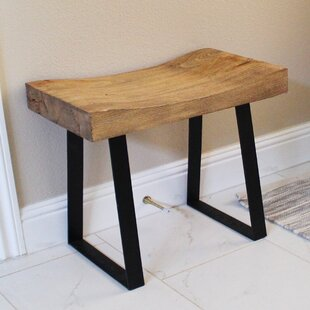 Stef Pine Wood End Table by Union Rustic