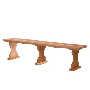 Hardwood Doweling Garden Bench by All Things Cedar