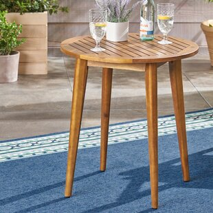 Order Bangor Acacia Wood Bistro Table Good purchase