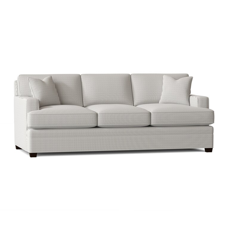 91'' Square Arm Sofa Bed with Reversible Cushions