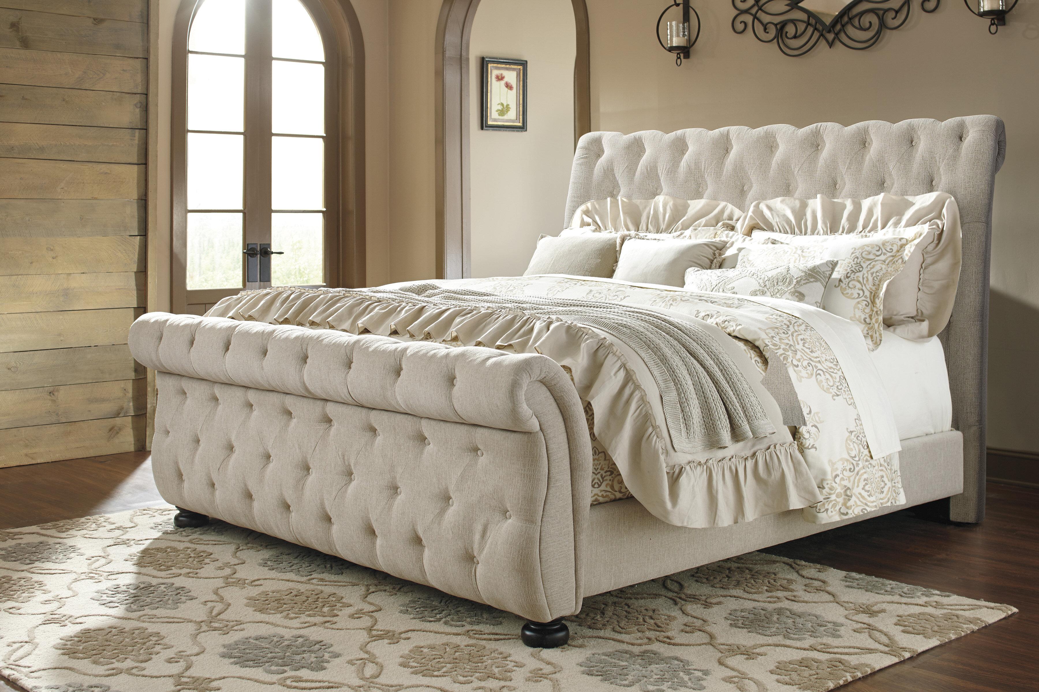 Ballwin Upholstered Sleigh Bed Reviews Joss Main