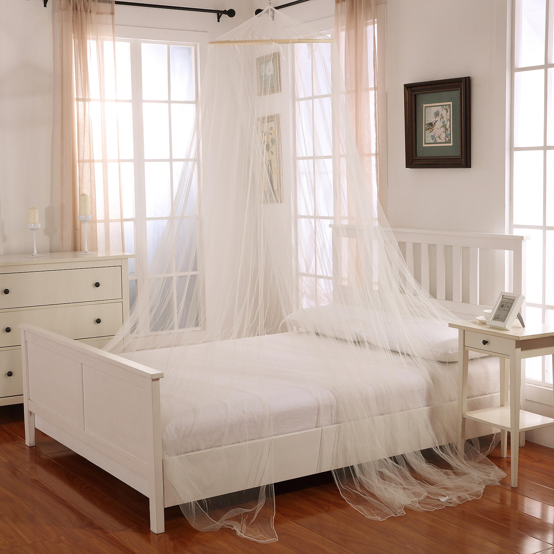 - Willa Arlo Interiors Laurencho Round Hoop Sheer Bed Canopy Net