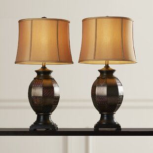 Online Reviews Bamborough Mosaic Textured 31 Table Lamp (Set of 2) By Astoria Grand