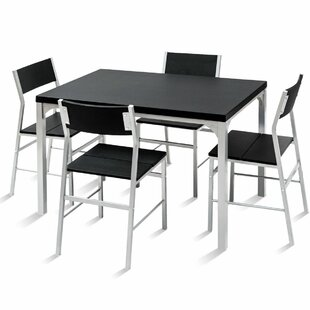 Catalina 5 Piece Dining Set Ebern Designs