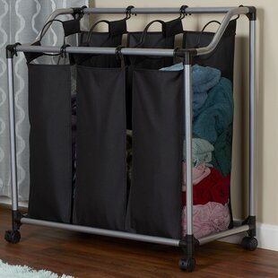 Best Reviews Triple Laundry Sorter with Removable Liner By Rebrilliant
