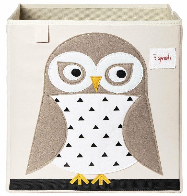 Owl Fabric Storage Cube