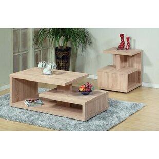 Foundry Select Bush Modern Design 2 Piece Coffee Table Set