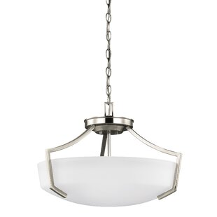 Darby Home Co Elkton 3-Light Bowl Pendant