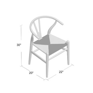 Langley Street Villa Court Solid Wood Dining Chair (Set of 2)