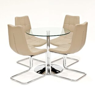 Daggett Dining Set With 4 Chairs By Metro Lane