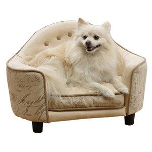 French Script Headboard Dog Bed