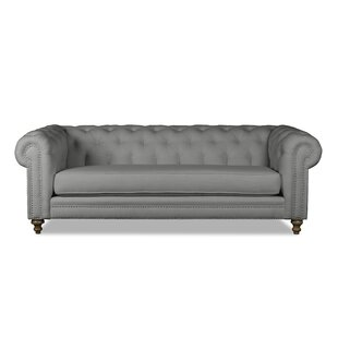 South Cone Home Hanover Tufted Linen Chesterfield Sofa