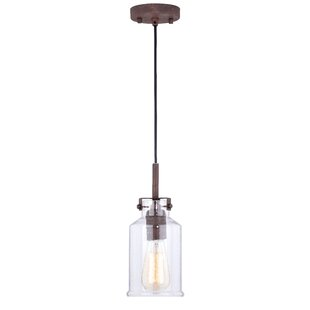 Heard 1-Light Jar Pendant by Gracie Oaks