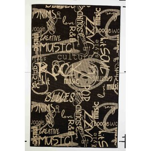 Kahle Black Indoor/Outdoor Area Rug