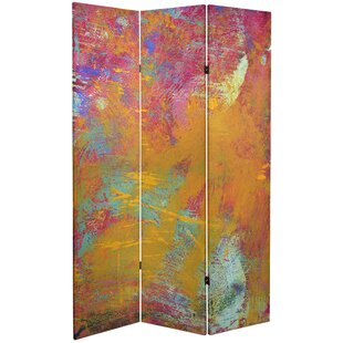 Saterfiel 71 X 47 25 Double Sided Wheel Canvas 3 Panel Room Divider