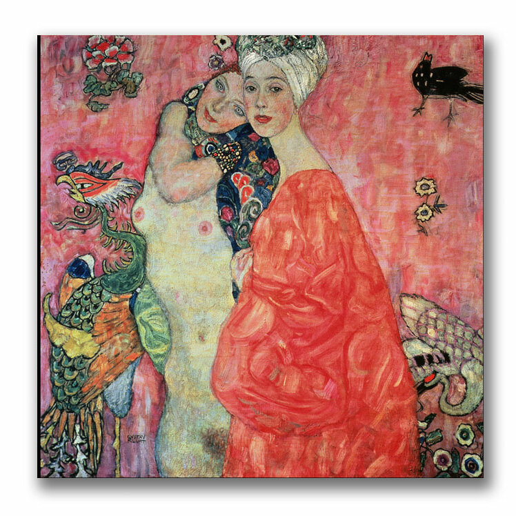 Lady with fan by Gustav Klimt Giclee Fine ArtPrint Reproduction on Canvas