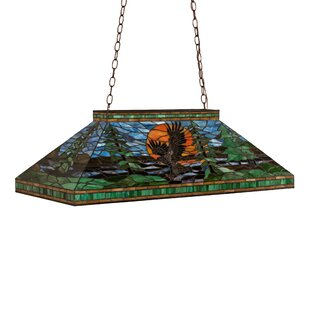Meyda Tiffany Eagle at Sunset 3-Light Pool Table Pendant