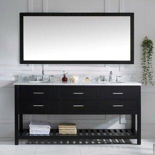 Rishaan 73 Double Bathroom Vanity Set with Mirror by Willa Arlo Interiors