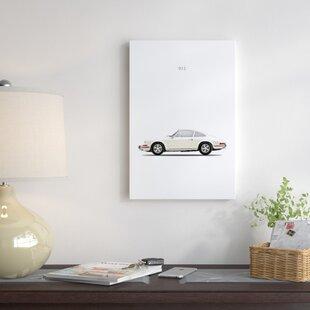 '1968 Porsche 911E' Graphic Art Print on Canvas ByEast Urban Home