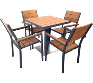 Red Barrel Studio Millstone 5 Piece Dining Set