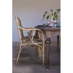 Ambash Solid Wood Dining Table Loon Peak