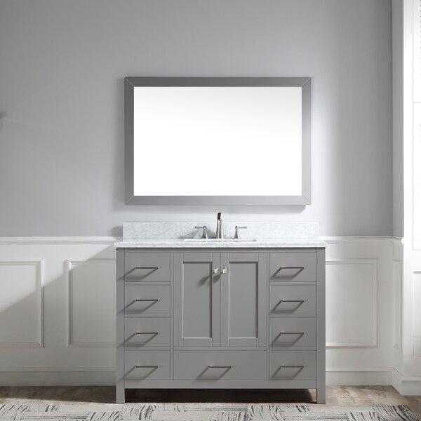 Latitude Run Drayden 48 Single Bathroom Vanity Set With Mirror Wayfair