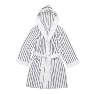23a71d4c8e Brett Kids Stripe 100% Turkish Cotton Terry Cloth Bathrobe