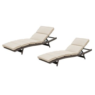 Fortenberry Chaise Lounge with Cushion (Set of 2)