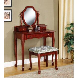 Astoria Grand Neppie Elegant Vanity Set with Mirror