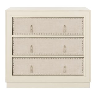 Bungalow Rose Castleberry 3 Drawer Accent Chest