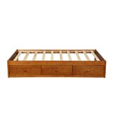 Twin Solid Wood Low Profile Storage Standard Bed by Schnappi