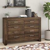 Granite Range 6 Drawer Standard Dresser/Chest with Mirror by Loon Peak®