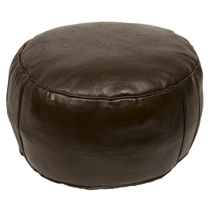 World Market Furniture Reviews: World Menagerie Hamerton Leather Pouf & Reviews