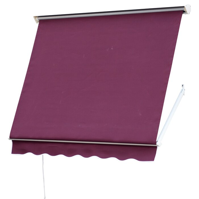 best service 6a187 1b645 Blassingame 6 ft. W x 5 ft. D Retractable Window Awning