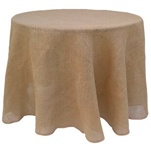 Etonnant Flanery Round Burlap Tablecloth