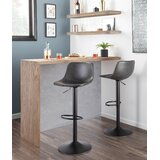 Lynsey Swivel Adjustable Height Bar Stool (Set of 2) by 17 Stories