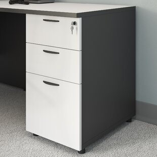 3 Drawer Desk Height Filing Cabinet by Symple Stuff 2019 Sale