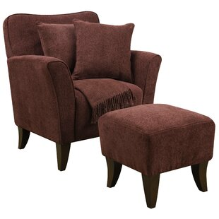 Darby Home Co Quaker Sqaure Arm Chair and Ottoman