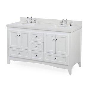 White Bathroom Double Vanity double vanities you'll love | wayfair