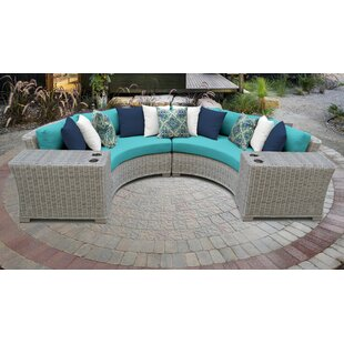 Coast 4 Piece Outdoor Sectional Seating Group with Cushions
