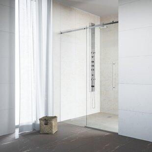 Luca 60 inch  x 78 inch  Single Sliding Frameless Shower Door