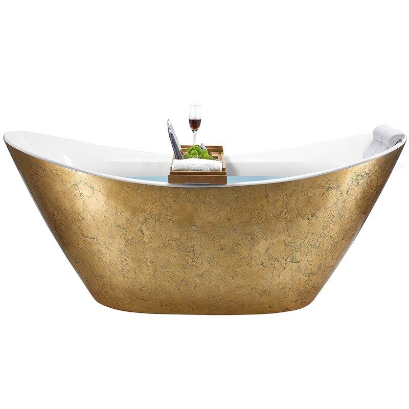 "64"" x 31"" Freestanding Soaking Bathtub"