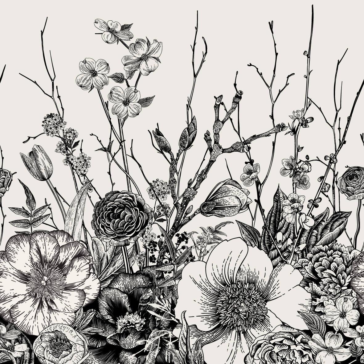 Bungalow Rose Laussat Removable Vintage Floral Mix 8 33 L X 100