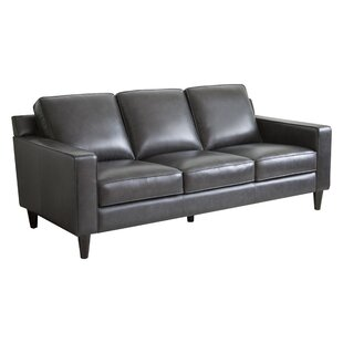 Shop Nalston Leather Sofa by Three Posts