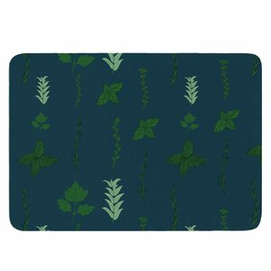 Herb Garden by Stephanie Vaeth Memory Foam Bath Mat