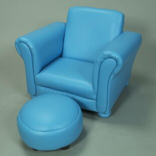 Aultman Children's Faux Leather Chair and Ottoman by Harriet Bee