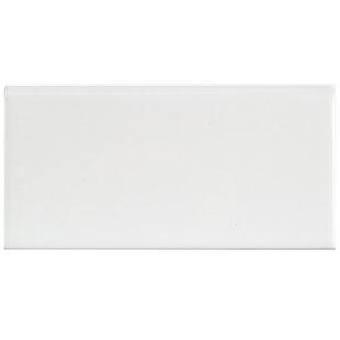 Prospect 6 X 3 Ceramic Bullnose Tile Trim In Glossy White Set Of 20