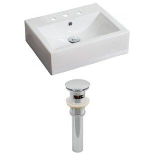Affordable Ceramic Rectangular Vessel Bathroom Sink with Overflow ByRoyal Purple Bath Kitchen